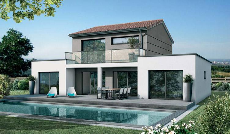 Mod le maison guggenheim maisons sanem constructeur de for Achat construction neuve
